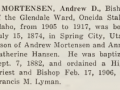 Andrew D Mortensen - LDS Biographical Encyclopedia page 564