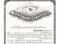Missionary Certificate